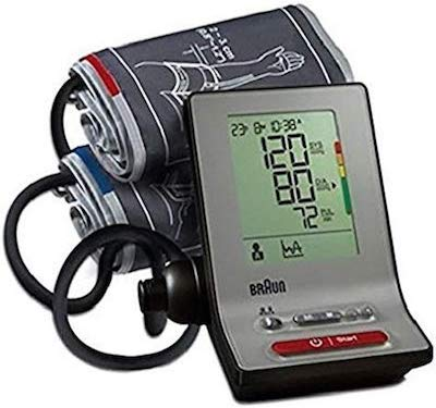 Braun BP6100 - Exactfit 3 Tensiómetro de brazo con 2 manguitos M/XL(AA, LCD, 1 piezas)