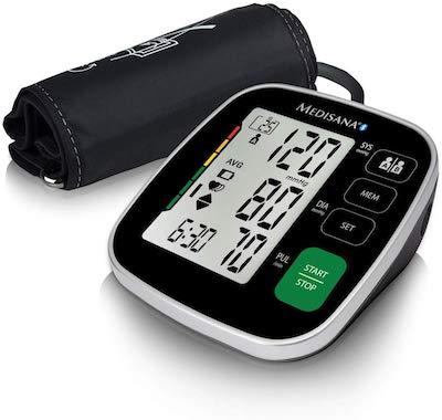 Medisana BU 546 connect Tensiómetro para el brazo con manguito grande, pantalla de arritmia, escala...