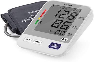 Tensiómetro de Brazo, HYLOGY Tensiómetro de Brazo Digital, 2 Memorias de Usuario(2 * 90), Escala...
