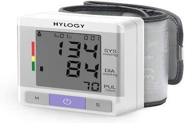 HYLOGY Tensiómetro de Muñeca, Totalmente Automático Presión Arterial y Detección de Pulso...