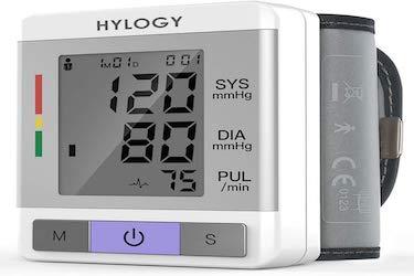Tensiómetro de Muñeca,Hylogy Tensiómetro Digital de Muñeca Totalmente Automático Presión...
