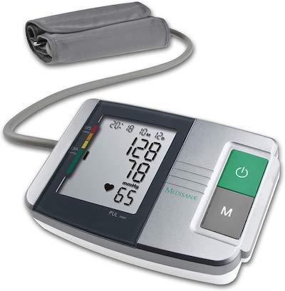 medisana MTS tensiómetro de brazo sin cable, pantalla de arritmia, escala de colores del semáforo...
