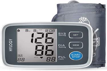 Tensiómetro de Brazo, HYLOGY Monitor de Presión Arterial Digital Automatico con Gran Pantalla LCD,...